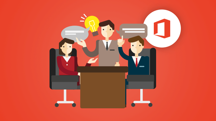 Illustration Collaborate within an Office 365 group