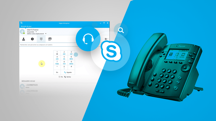Illustration The Polycom 300 and Skype for Business